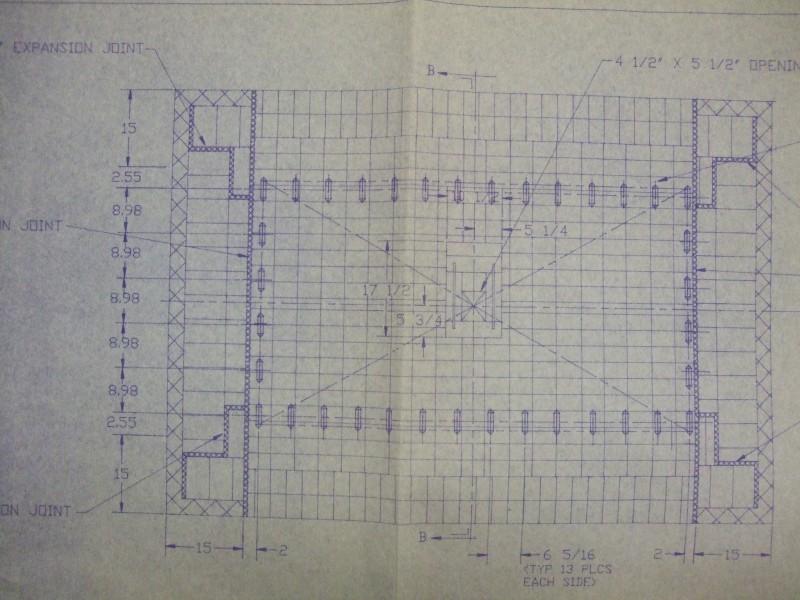 HED ELK-54 1750C Elevator kiln lining drawing 3