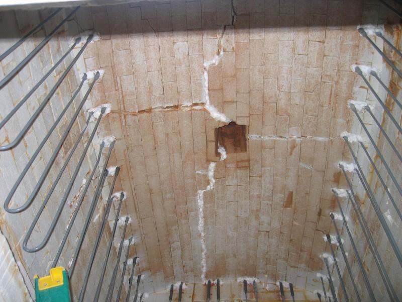 HED ELK-54 1750C Elevator kiln interior roof
