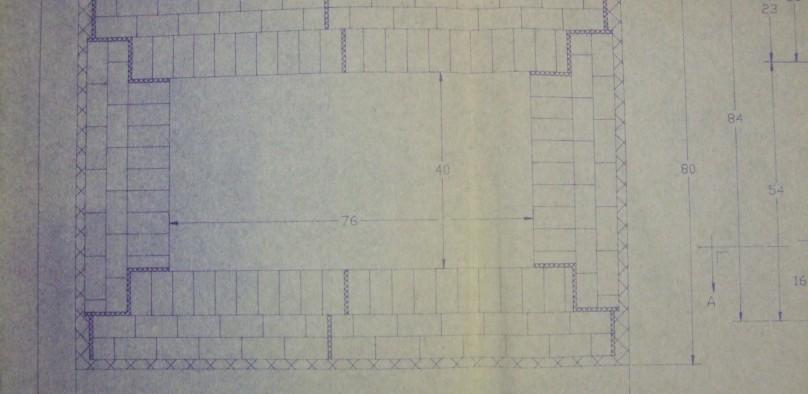 HED ELK-54 1750C Elevator kiln lining drawing 2