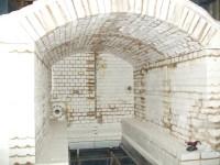 Large high temperature shuttle kiln reline